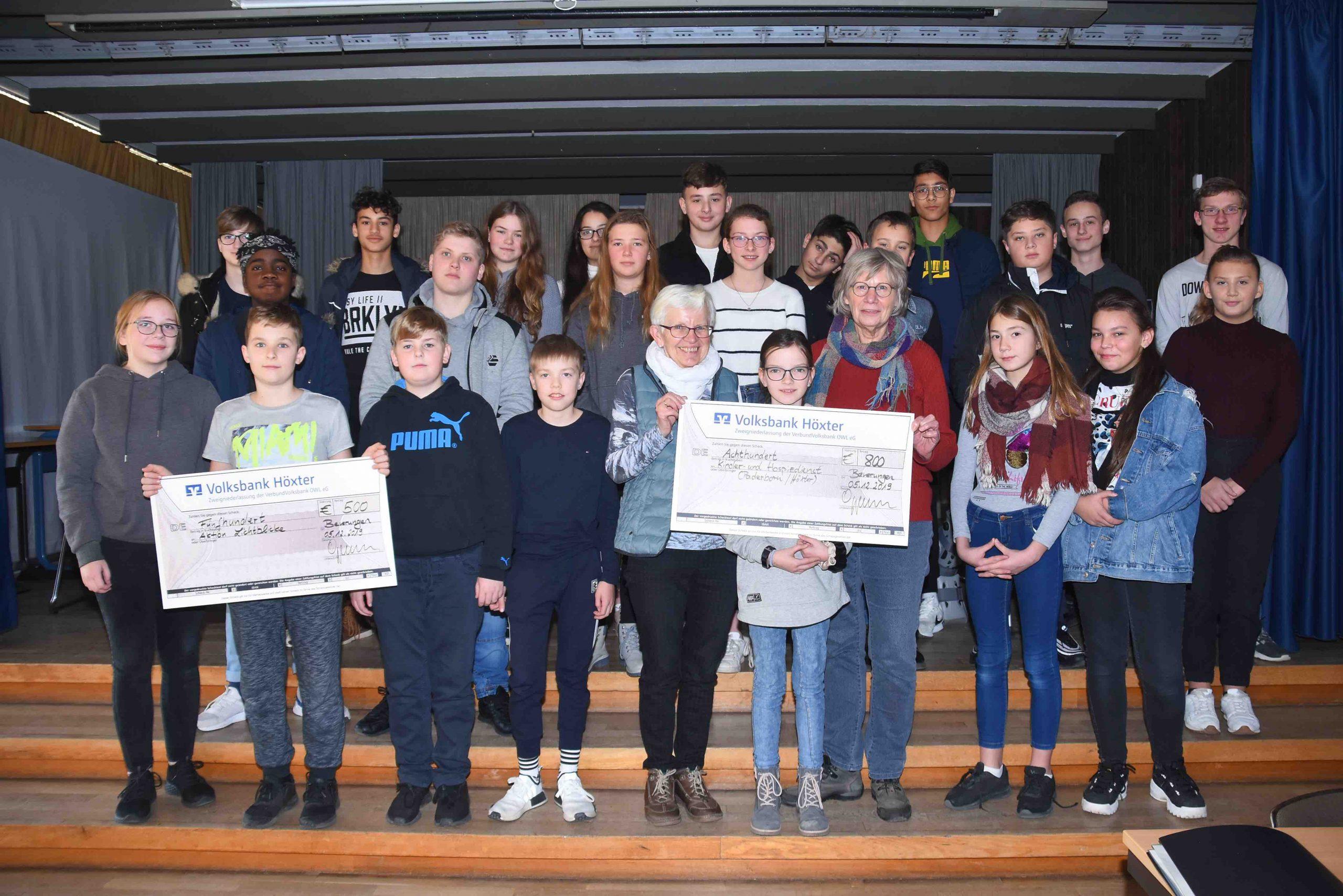 Sekundarschüler spenden 1.300 Euro