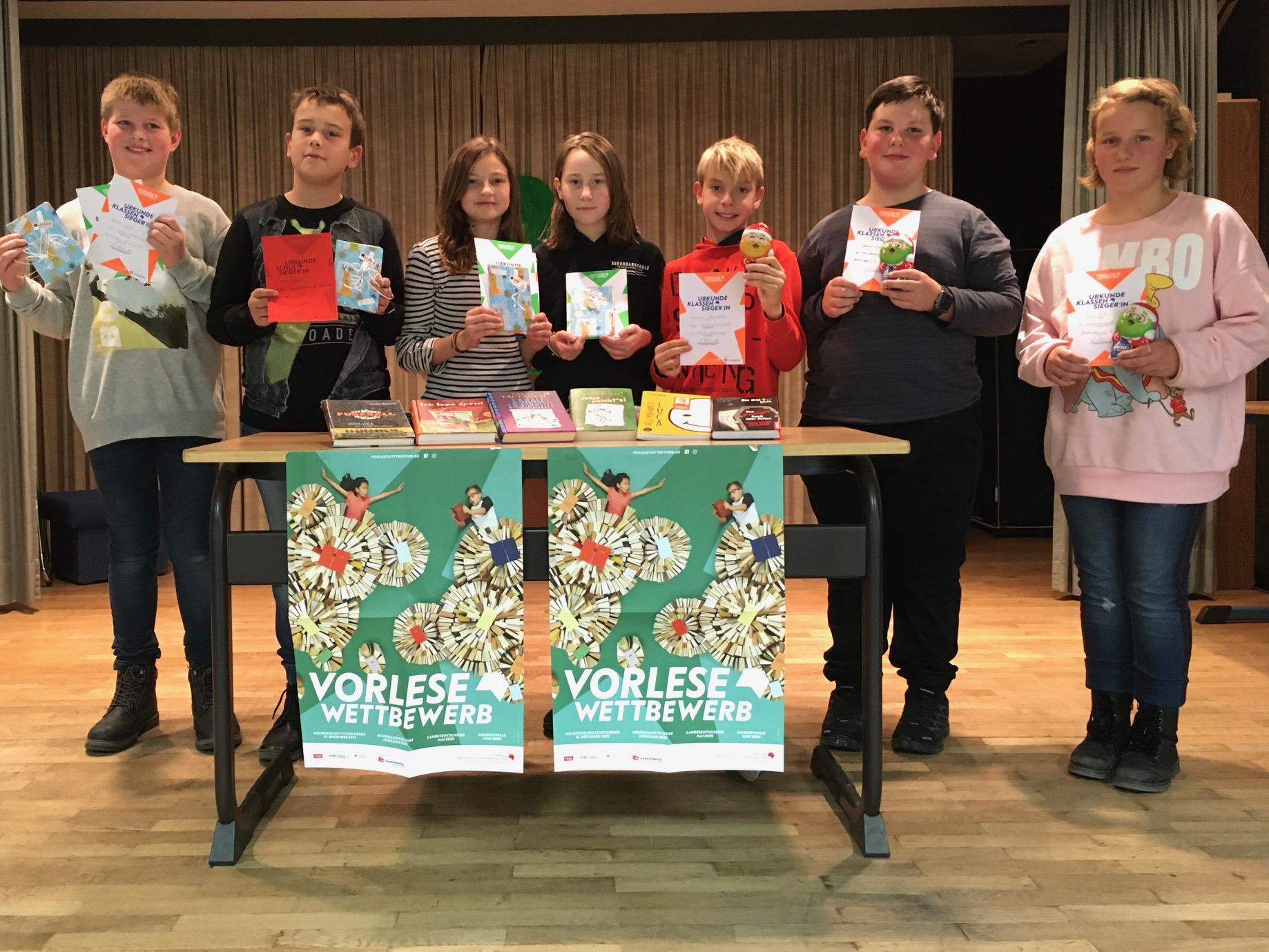 Sekundarschüler nehmen am Leseförderungs-Wettbewerb teil